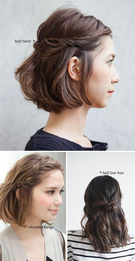 quick easy casual hairstyles ideas short hair do s 10 quick and easy styles pinterest