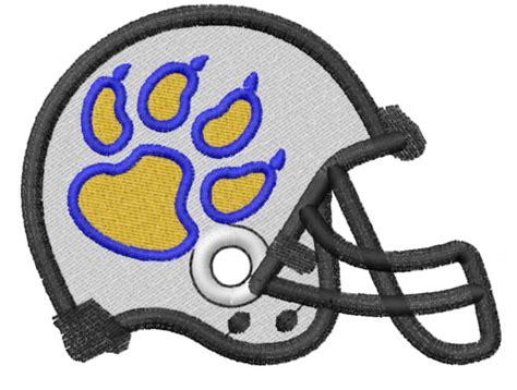 design football helmet logo paw print 5 football helmet embroidery designs machine