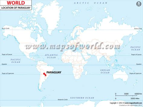 paraguay world map where is paraguay location of paraguay