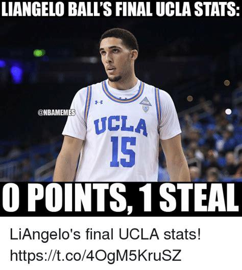 Ucla Memes - liangelo ball s final ucla stats ucla 15 o points1 steal