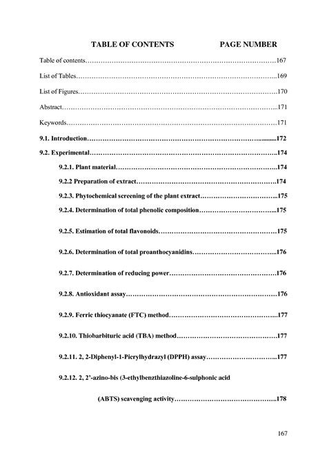 Apa Table Of Contents Format by Best Photos Of Paper For Table Of Contents Table Of