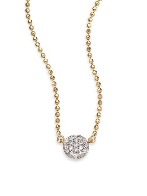 phillips house phillips house affair diamond 14k yellow gold beaded infinity necklace lyst