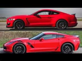 2016 ford mustang shelby gt350 vs chevy corvette stingr
