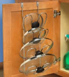 cabinet door pot lid organizer in pot lid racks
