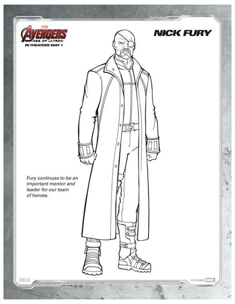 marvel coloring pages age of ultron marvel avengers age of ultron nick fury coloring page