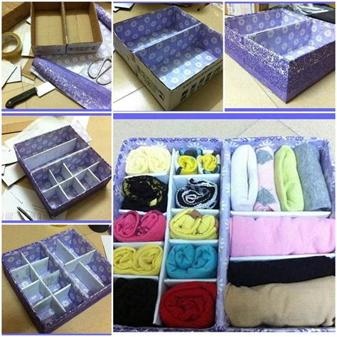 diy storage box ideas diy cardboard underwear storage box