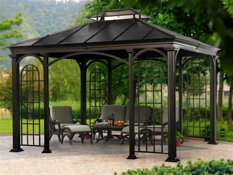 aluminum gazebo everything you need to about gazebos the garden