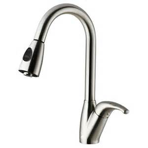 single kitchen faucet vigo single handle pull out sprayer kitchen faucet in stainless steel vg02017st the home depot