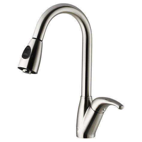 Vigo Stainless Steel Pull Out Kitchen Faucet | vigo single handle pull out sprayer kitchen faucet in