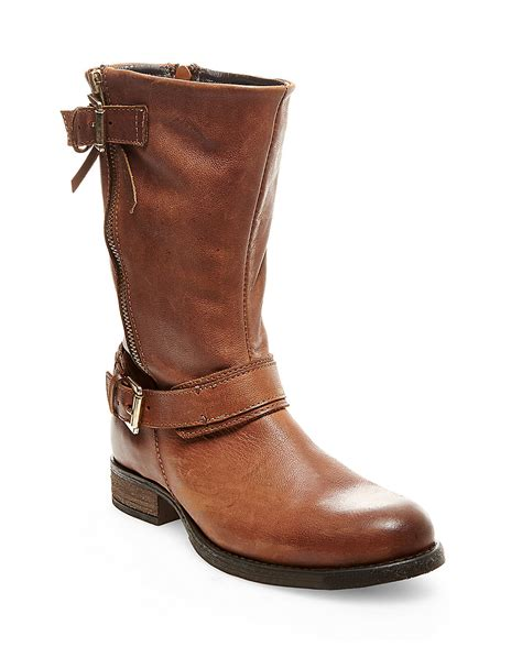madden boots steve madden kavilier leather boots in brown lyst