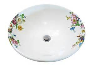 floral bathroom sinks decorated basin decorated bathroom
