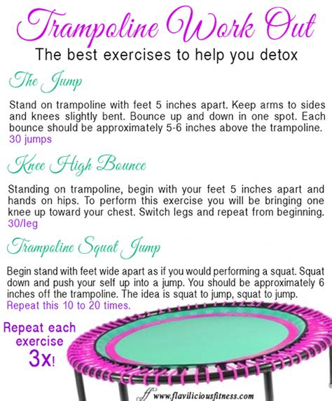 Does Exercise Help Detox by Troline Workout For Detox Exercises For