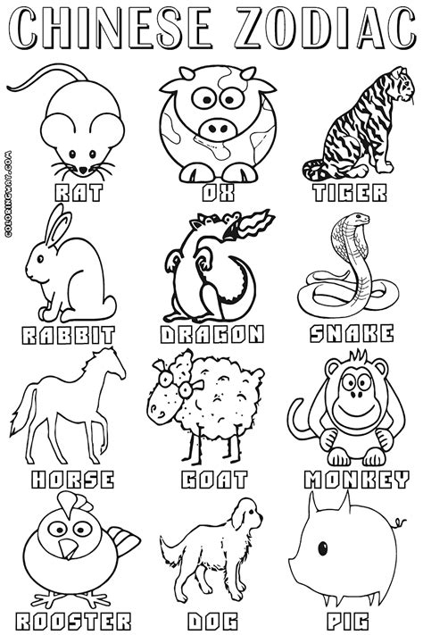 free printable chinese zodiac signs chinese coloring page within china pages for coloring