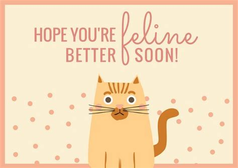 Free Template Get Well Card by Get Well Soon Card Templates By Canva