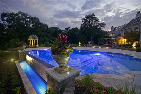 infinity pool backyard soothing infinity pool designs home design inside