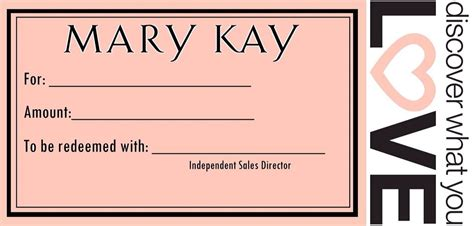 Mary Kay Gift Card - gift certificates mary kay gift certificate mary kay pinterest mary kay