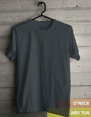 Kaos Polos Baju Oblong Tshirt Combed 30s Grosir Ecer 64 jual kaos oblong o neck t shirt polos abu tua kualitas
