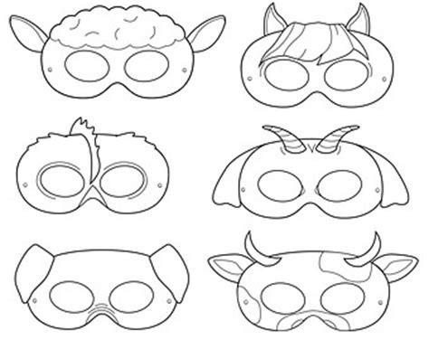 printable animal eye mask template clown printable coloring masks clown mask by