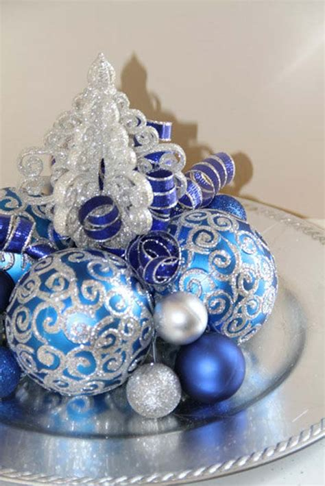 blue christmas decorations blue christmas small