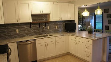 Kitchen Cabinets 10x10 White Shaker Kitchen Cabinets 10x10 Set For Easy Diy Kitchen Remodels