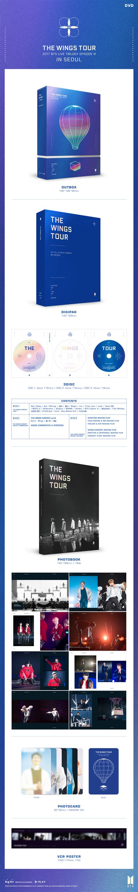 bts the wings tour dvd info 2017 bts live trilogy episode iii the wings tour in