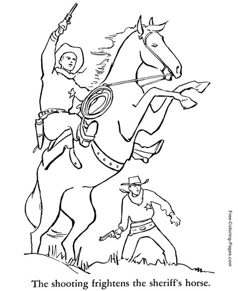 coloring book pages western printable coloring pictures of horses