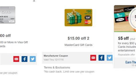 Meijer 5 Off 50 Gift Card - meijer mperks 10 off 100 in visa giftcards 15 off two mastercard 5 off 50