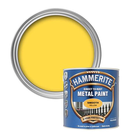 hammerite direct to rust yellow smooth metal paint 25l
