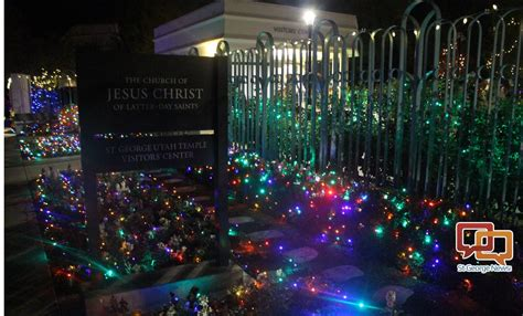 annual lighting program lights up lds temple grounds for