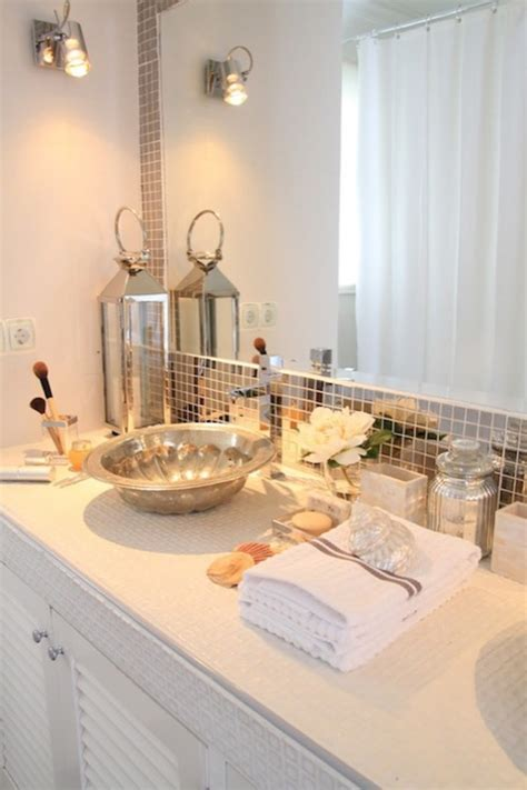 mirrored bathroom tiles mirrored tile backsplash contemporary bathroom ana antunes
