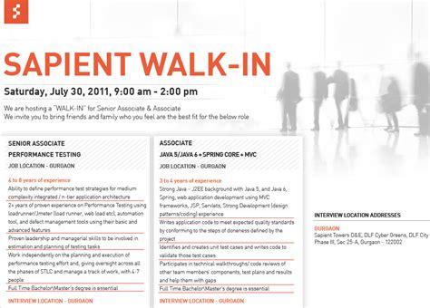 java engine referral walkin interview  sapient  gurgaon   july  java