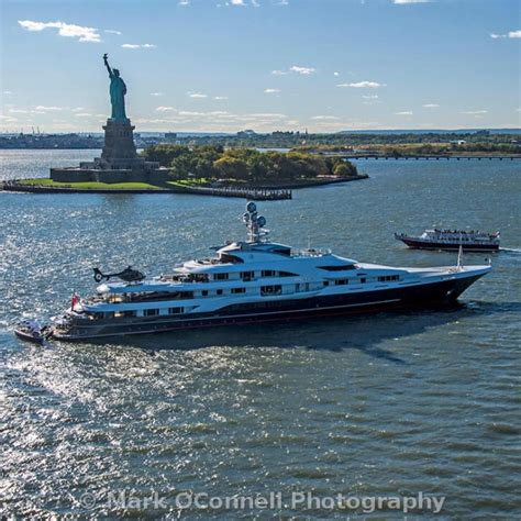 yacht attessa attessa iv in nyc by mark o conell helicopter yacht