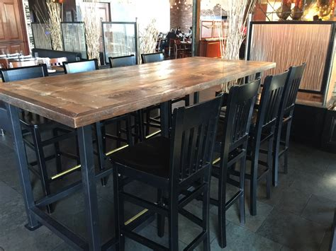 table 9 restaurant reclaimed wood dining top9ft x 42dining