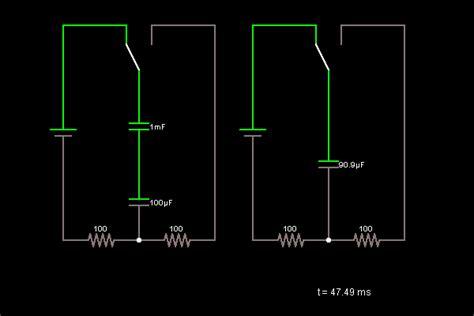 capacitor circuit simulator capacitors in series circuit simulator