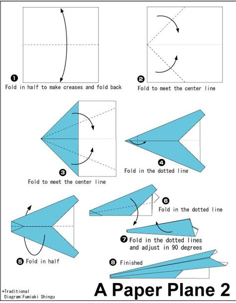 Paper Airplanes Folding - 13 best paper airplanes images on paper