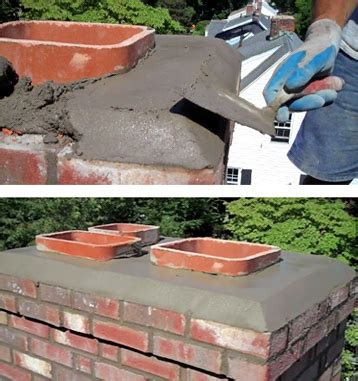 cement chimney crowns chimney repair to dubuque - Chimney Mortar Cap Repair
