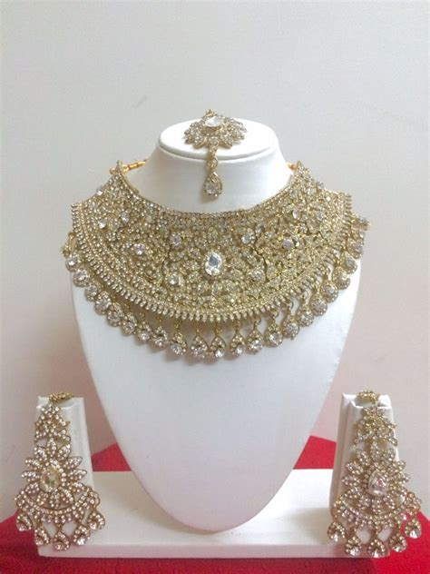 Brautschmuck Set by Indian Style Fashion Gold Plated Bridal Jewelry