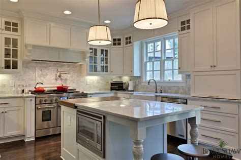 dove white kitchen cabinets robert abbey chase pendant transitional kitchen