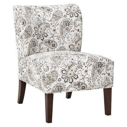 black and white paisley chair threshold scooped back chair black white paisley