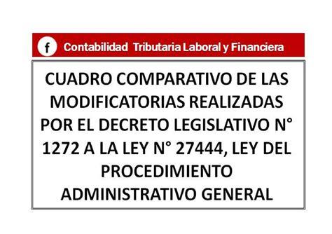 ley del procedimiento administrativo general decreto calam 233 o cuadro comparativo modificado decreto