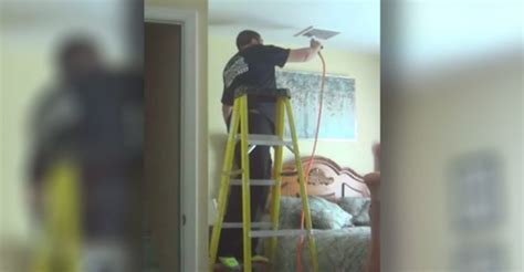 hidden camera bedroom hidden camera catches repairman doing this in her bedroom