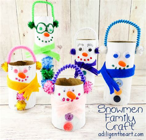 family crafts snowmen family craft