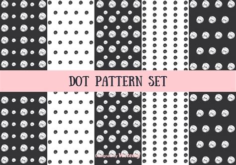 dot pattern system sewing dot pattern vector set download free vector art stock