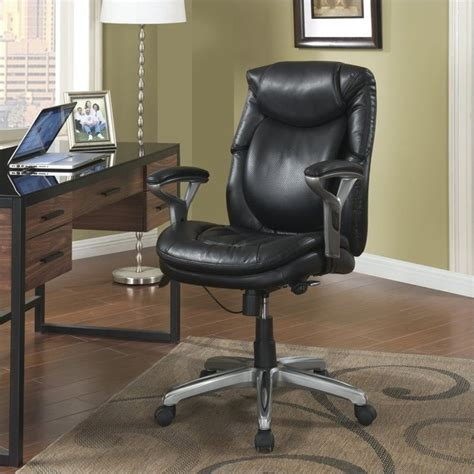 serta office furniture serta air office chair in black bonded leather 44103