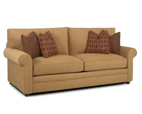 comfy couch outlet klaussner comfy 36330 s casual stationary sofa with rolled