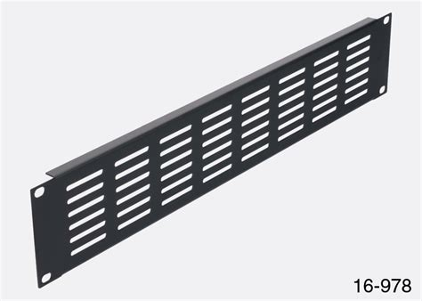 Rack Ventilation by Rackvent Rack Ventilation Panel 3u Steel Slotted Black