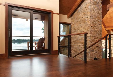 terratone sliding screen door sliding doors with lake view marvin photo