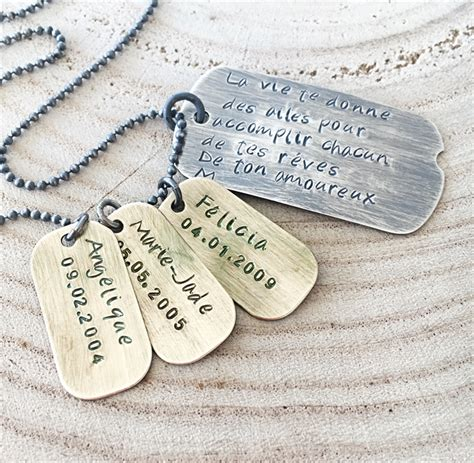 tag jewelry tag necklace gift for personalised gift tag jewellery