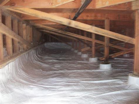 moisture fans under house crawl space clean up moisture barrier sump pumps