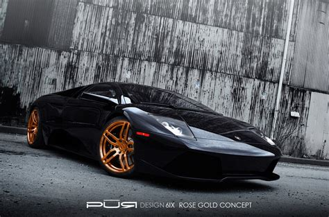 rose gold car lamborghini murcielago gets rose gold pur wheels